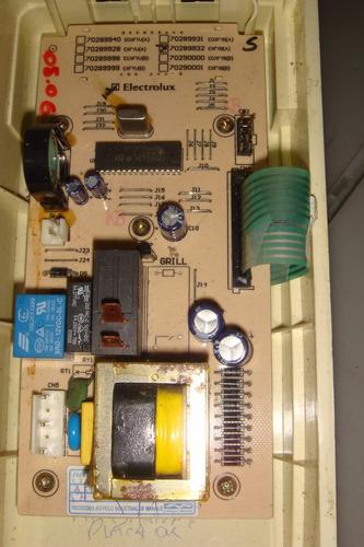 placa eletrônica + membrana microondas electrolux me2l5