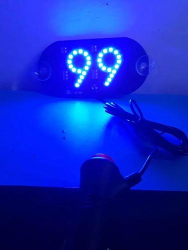 placa em leds escrito 99 alta luminosidade voltagem 12v