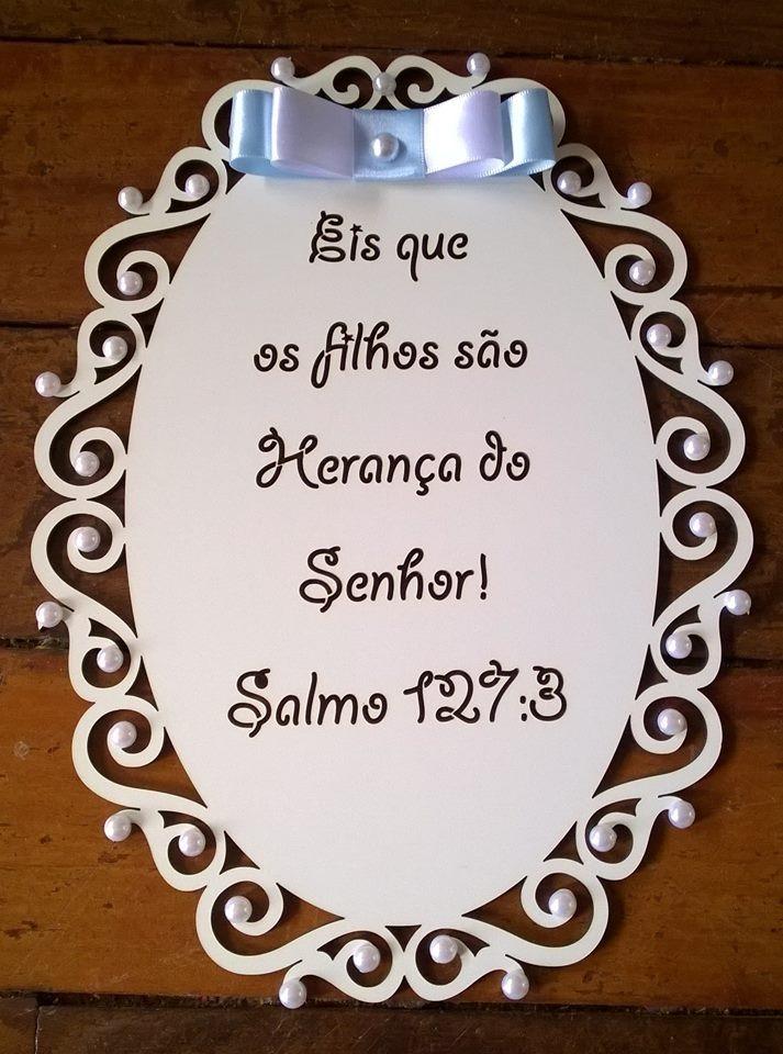 Placa Em Mdf Com Versículos Bíblicos Gravados R 4800 Em Mercado