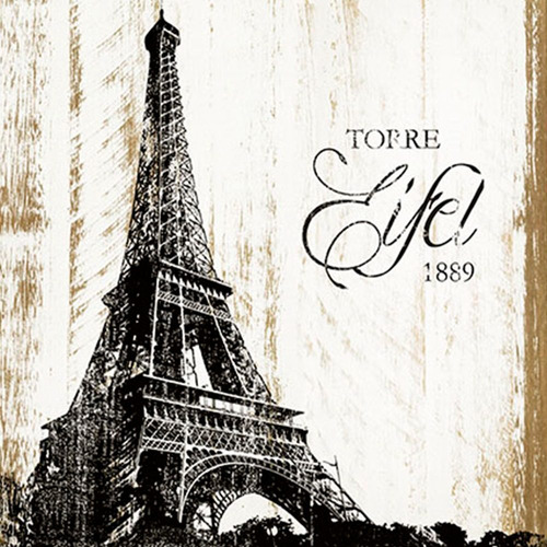 placa em mdf e papel decor home torre eiffel dhpm-122 - lito