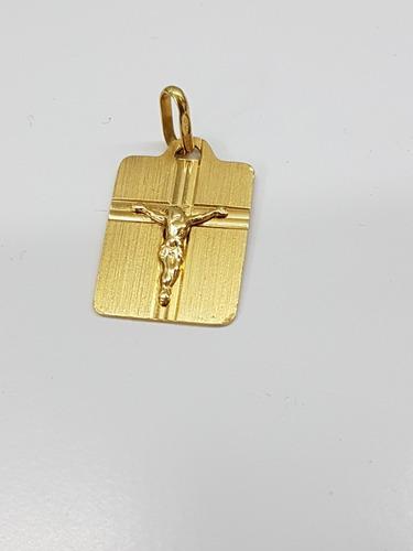 placa en oro 18k italiano 750