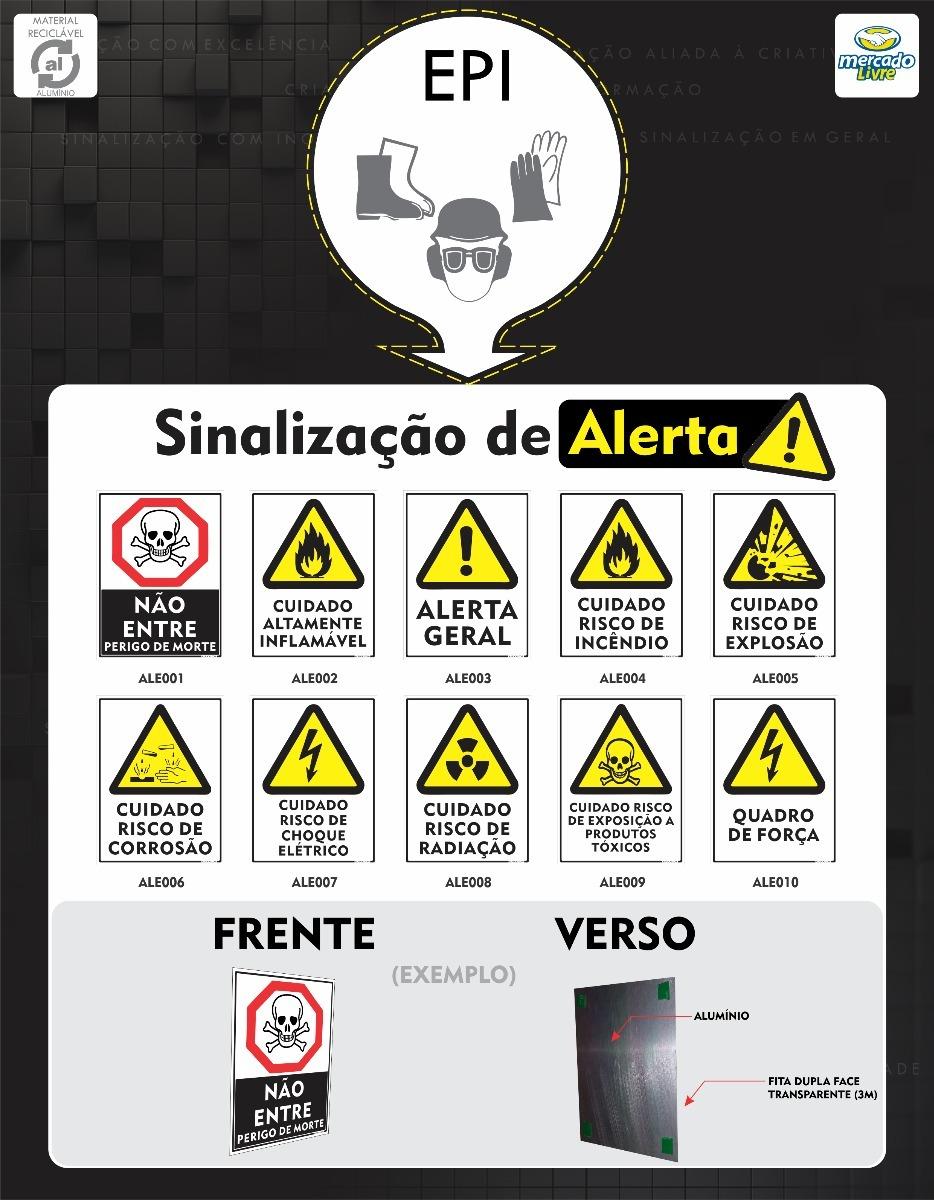 Placa Epi Alerta Sinalização Em Alumínio Segurança Trabalho - R  9 ... bcbf88db8f