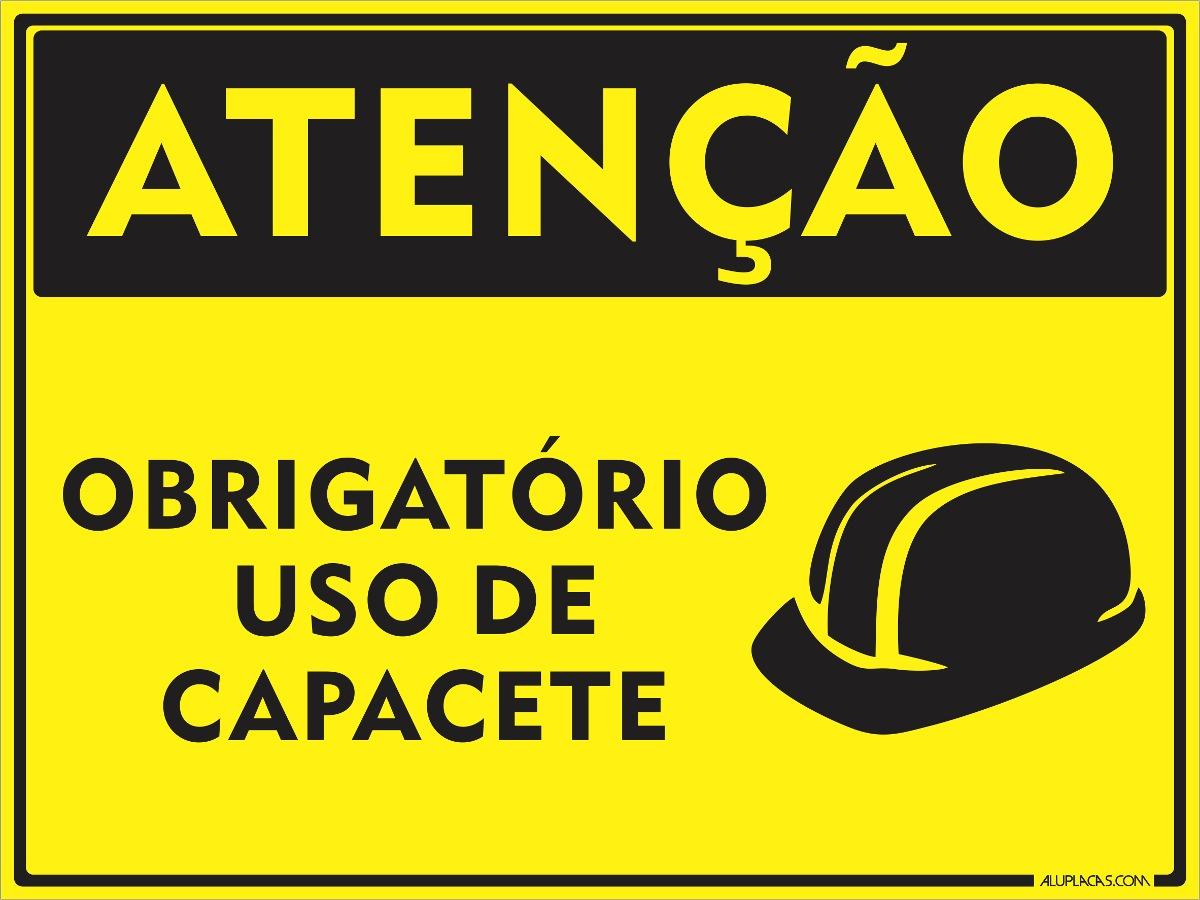 71248880c808a placa epi obrigatório uso de capacete 20x15cm em alumínio. Carregando zoom.