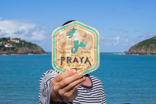 placa escudo praya 17 cm em madeira osb
