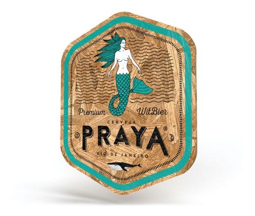 placa escudo praya 30 cm em madeira osb