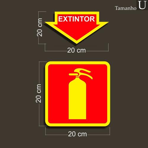 placa extintor de incêndio pvc