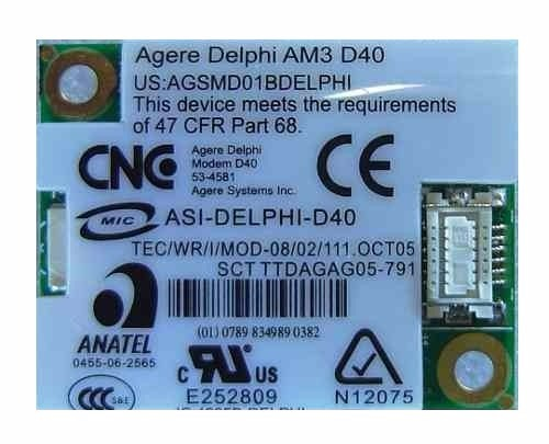 DRIVER FOR AGERE D40 MODEM