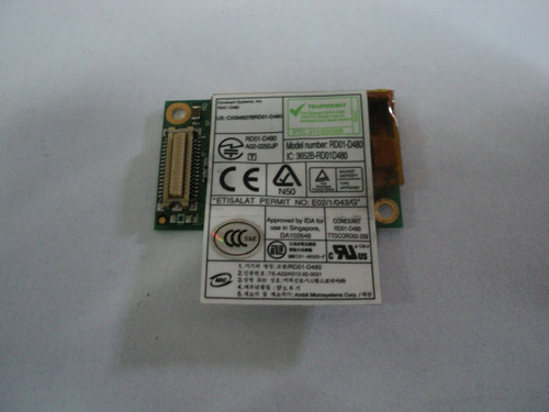placa fax modem sony, dell, emachine 56k rd01-d480