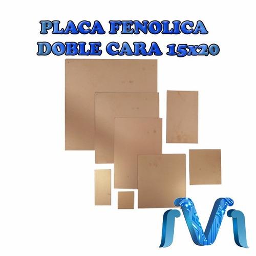 placa fenolica doble cara pcb para circuitos15x20cm