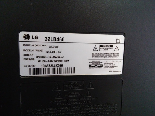 placa fonte eax 61124201/15 - tv lg 32ld460