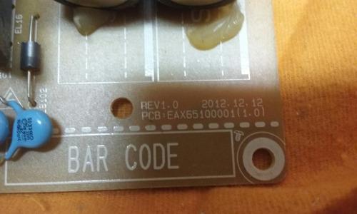 placa fonte eax65100001 (1.0) tv led lg 42la6130