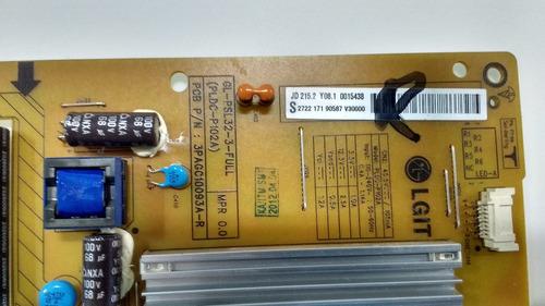 placa fonte philips 32pfl5007g/78 pldc-p102a