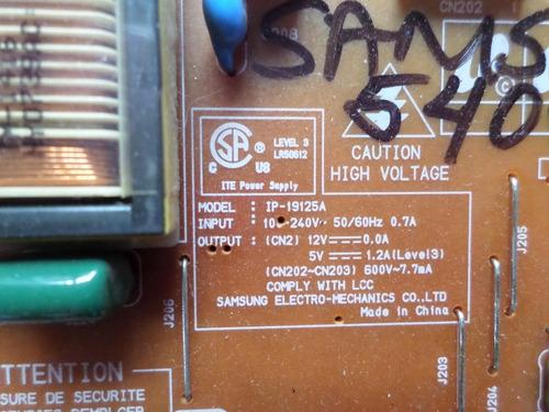 placa fonte samsung 540n  ip-19125a