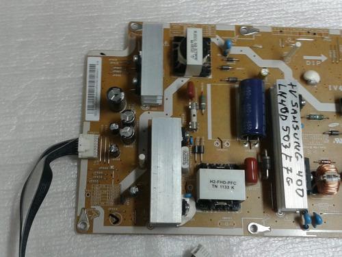 placa fonte samsung ln40d503f7g r$ 110,00