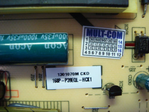 placa fonte toshiba le3973 168p-p39eql-hck1