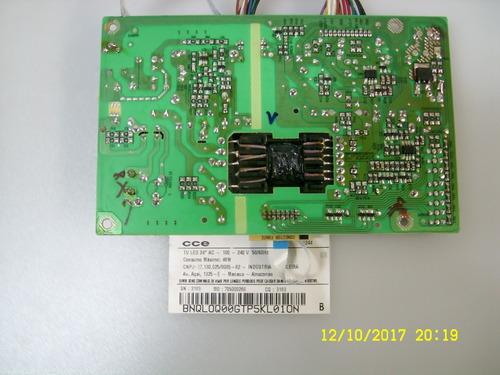 placa fonte tv led cce ln244 funcionando r$156,00