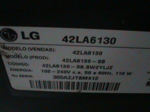 placa fonte tv led lg 42la6130