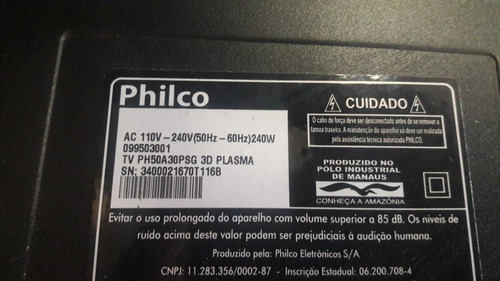 placa fonte tv philco ph50a30psg 3d plasma