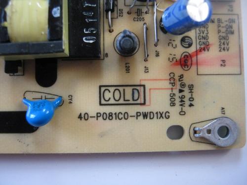 placa fonte tv philco tvph32m led-a4 40-po81co-pwd1xg
