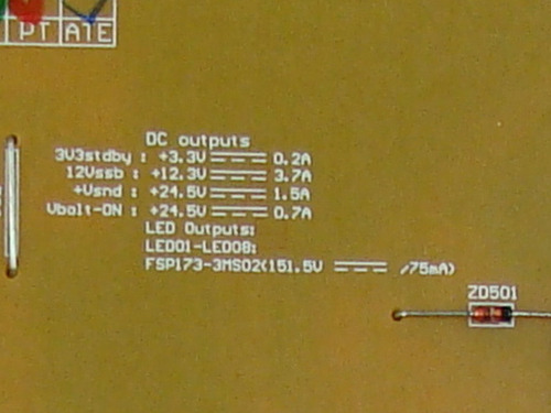 placa fonte tv philips 46pfl5605 46pfl6605 fsp173-3ms02