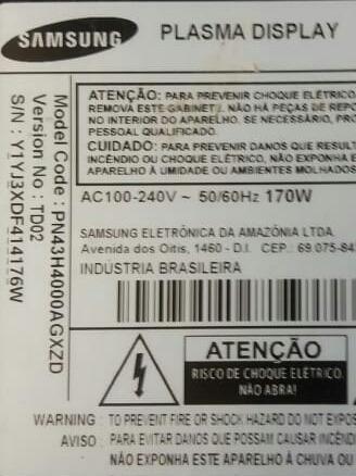 placa fonte tv samsung pn43h4000ag pn43h4000 bn4400685a