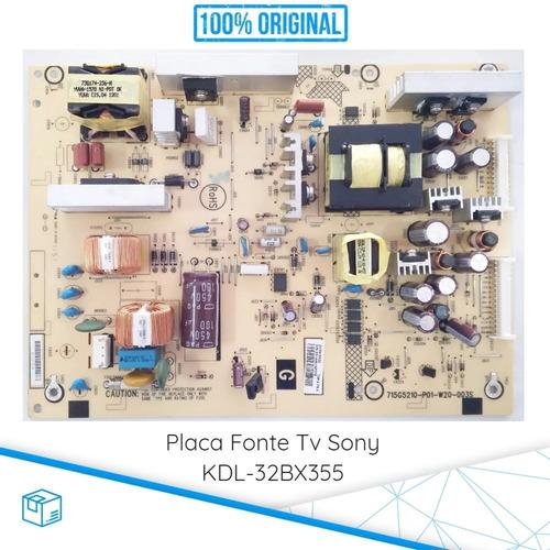 placa fonte tv sony kdl-32bx355 nova