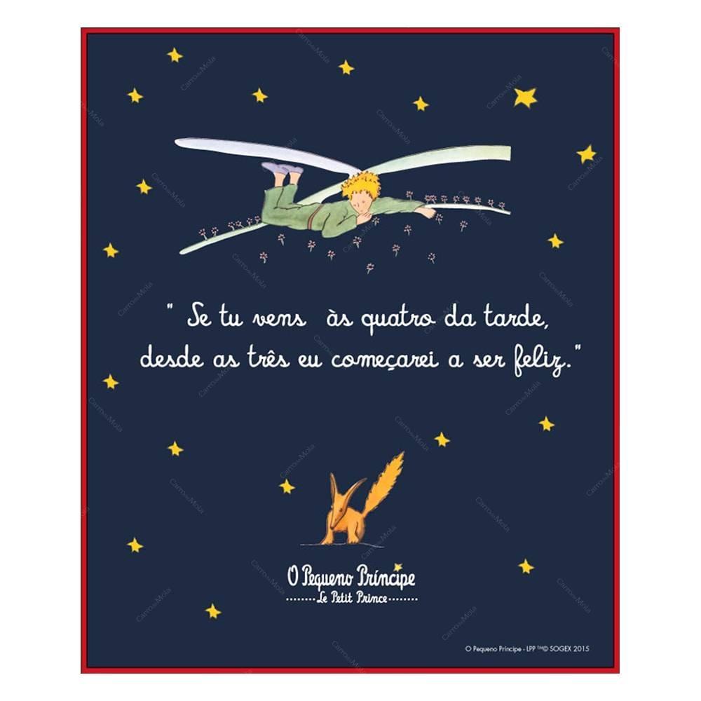 Placa Frase Pequeno Príncipe Se Tu Vens às Quatro Da Tarde R 49