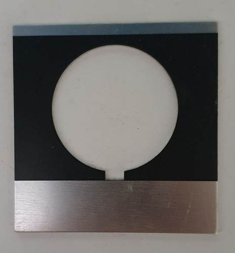 placa ge negra s/leyenda p/botón pulsador cr104pxn1b