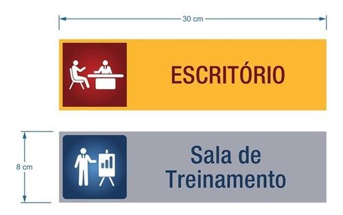 placa gerente geral identificação departamento personalizada
