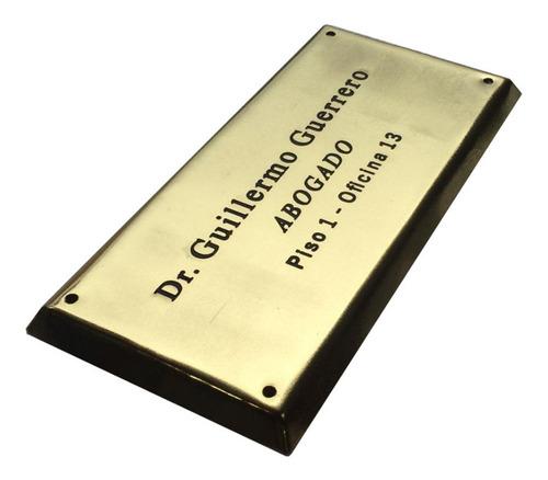placa grabada profesional, doctor, abogado, contador 20x10cm