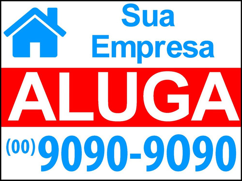 placa grande imobiliaria 30x40cm - frete gratis