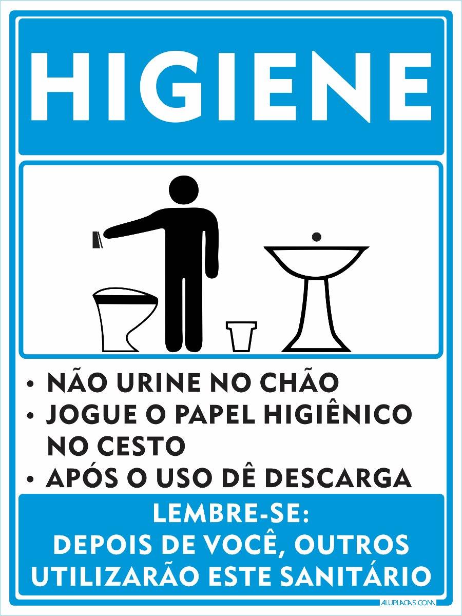 0d1cf52413102 placa higiene em alumínio sinalização segurança trabalho epi. Carregando  zoom.