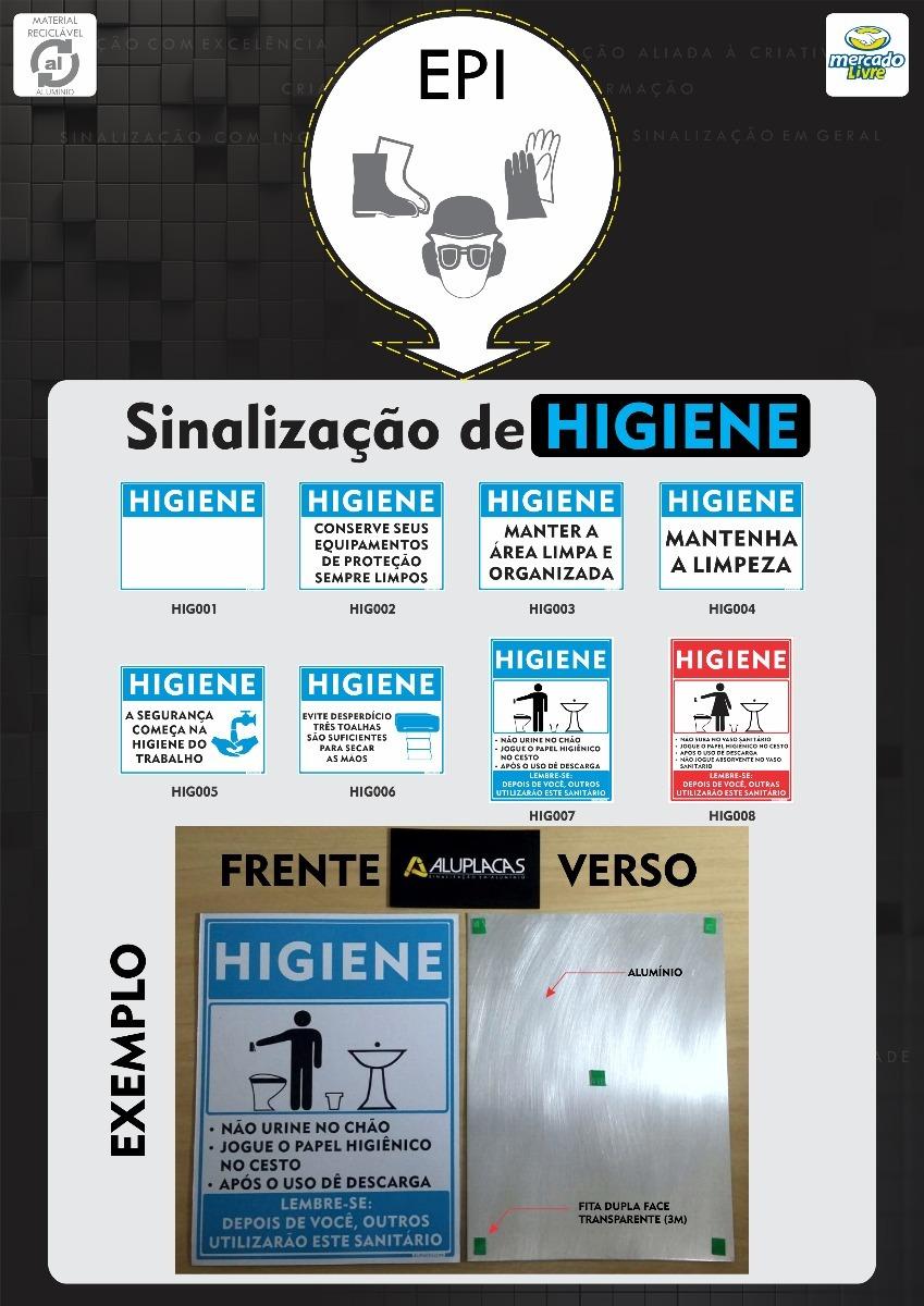 placa higiene em alumínio sinalização segurança trabalho epi. Carregando  zoom. 27ecaa76e3