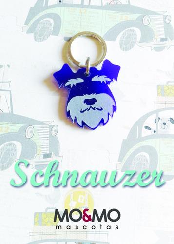 placa id para perros schnauzer mo&mo
