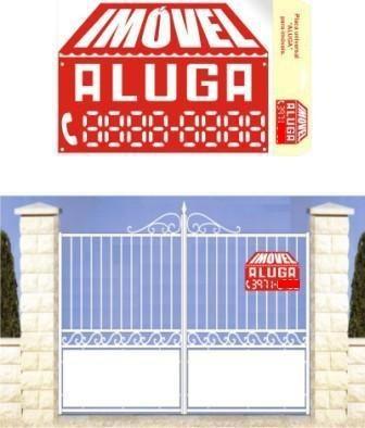 placa identificadora de aluguel p/ imóveis  casa apartamento