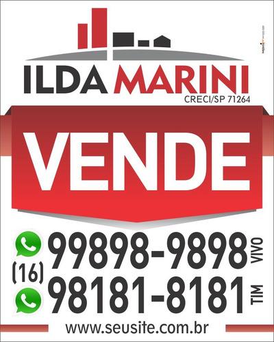 placa imobiliária - aluga ou vende - 10 unidades - 40x50cm