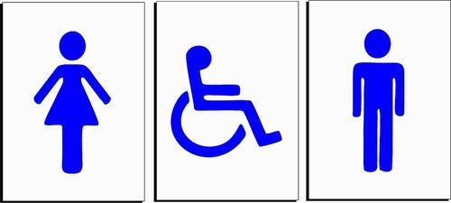 placa indicativa  banheiro
