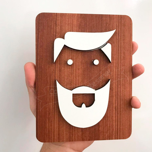 placa indicativa banheiro masculino barba restaurante casa