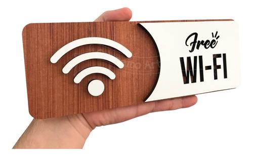 placa indicativa de sinalização wi-fi wifi mdf especial