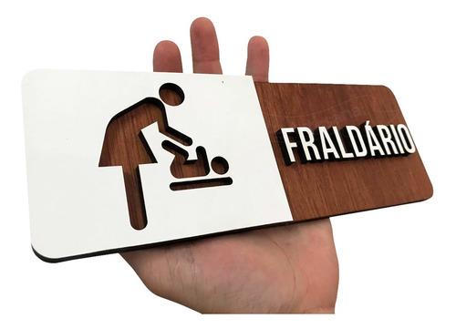 placa indicativa estabelecimento fraldário nenê fralda mdf