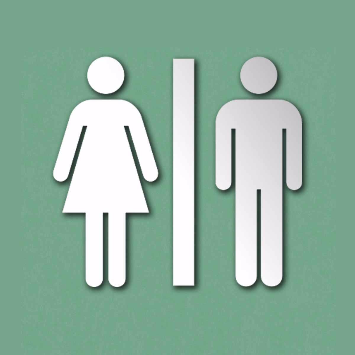 Imagens De Banheiro Para Colorir : Placa indicativa sinaliza??o banheiro acr?lico espelhado
