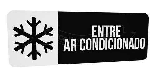 placa indicativa sinalização preta ar condicionado hotel