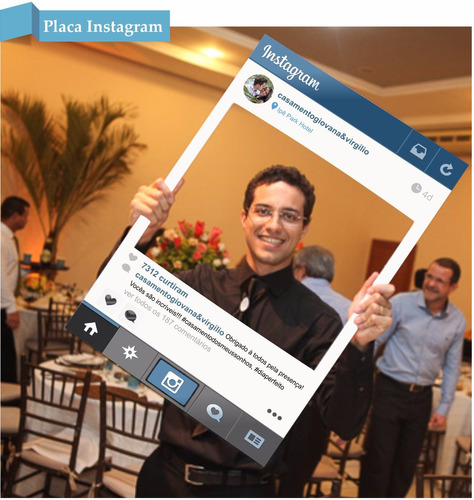 placa instagram 2015 personalizada