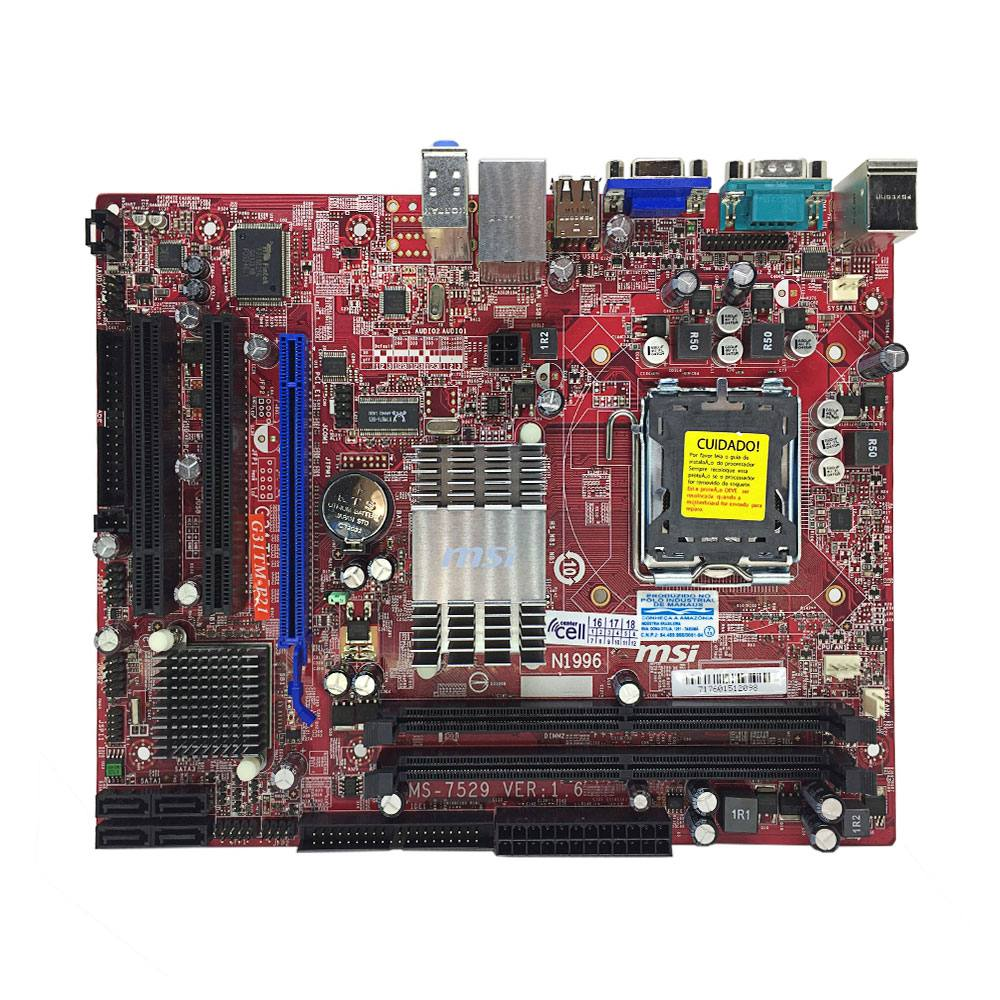 MSI G31TM-P21 Windows Vista 32-BIT