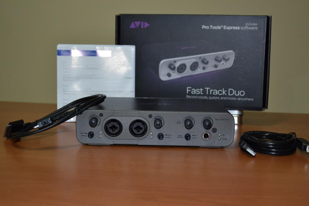 placa interface fast track duo m audio 2x2 preamps r 719 99 em mercado livre. Black Bedroom Furniture Sets. Home Design Ideas