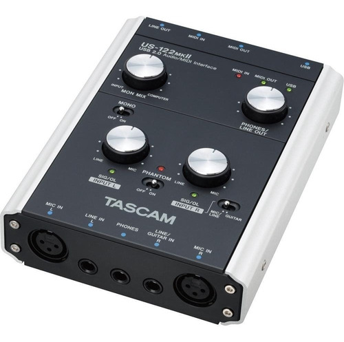 placa interface de audio tascam us-122 mkii usb usada