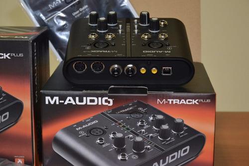 placa interface m-audio m-track plus usb original