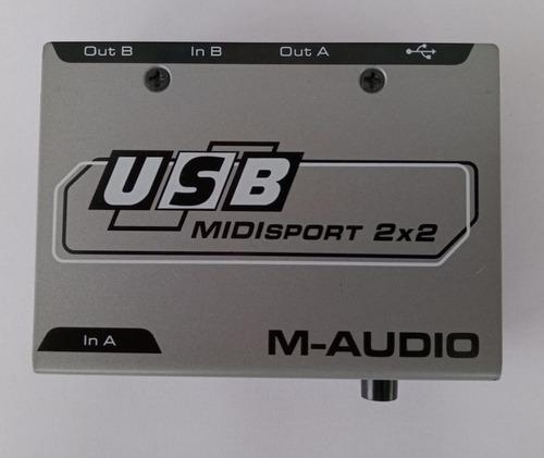 placa interface midi m audio midisport usb 2x2 expansível