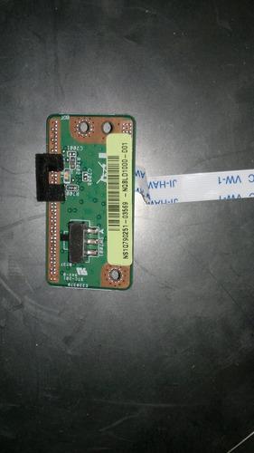 placa interruptor wi-fi toshiba satellite l45 h000006970