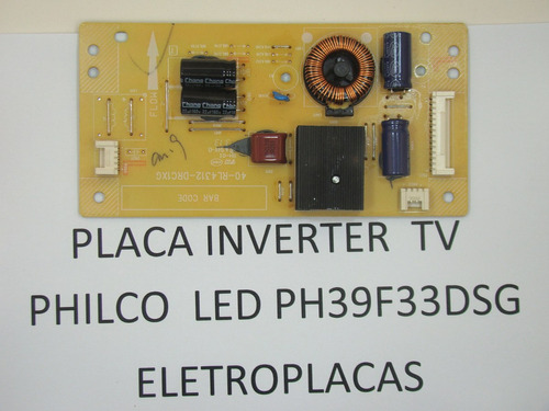 placa inverter led tv philco led ph39f33dsg